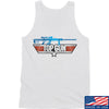 IV8888 Top Gun Barrett M107A1 Tank Tanks SMALL / White by Ballistic Ink - Made in America USA
