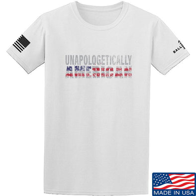 IV8888 Unapologetically American T-Shirt T-Shirts Small / White by Ballistic Ink - Made in America USA