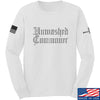 IV8888 Unwashed Commoner Long Sleeve T-Shirt Long Sleeve Small / White by Ballistic Ink - Made in America USA