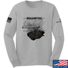 IV8888 Volumetric Accuracy Long Sleeve T-Shirt Long Sleeve Small / Light Grey by Ballistic Ink - Made in America USA
