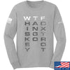 IV8888 Whiskey Tango Foxtrot (WTF) Long Sleeve T-Shirt Long Sleeve Small / Light Grey by Ballistic Ink - Made in America USA