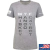 IV8888 Ladies Whiskey Tango Foxtrot T-Shirt T-Shirts SMALL / Light Grey by Ballistic Ink - Made in America USA