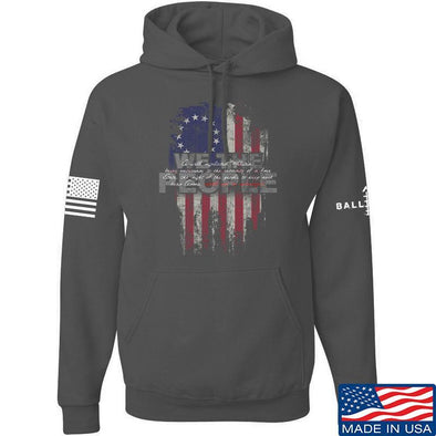 IV8888 We The People Hoodie Hoodies Small / Charcoal by Ballistic Ink - Made in America USA