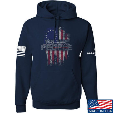 IV8888 We The People Hoodie Hoodies Small / Navy by Ballistic Ink - Made in America USA