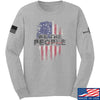 IV8888 We The People Long Sleeve T-Shirt Long Sleeve Small / Light Grey by Ballistic Ink - Made in America USA