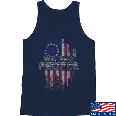 IV8888 We The People Tank Tanks SMALL / Navy by Ballistic Ink - Made in America USA