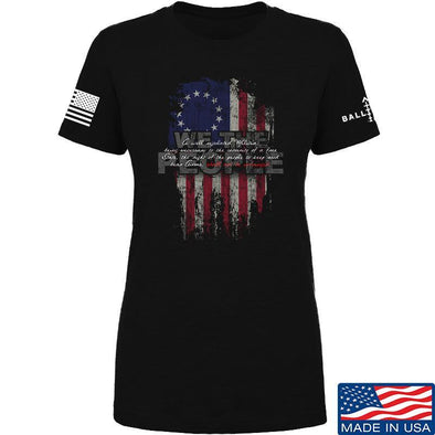 IV8888 Ladies We The People T-Shirt T-Shirts SMALL / Black by Ballistic Ink - Made in America USA