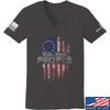 IV8888 Ladies We The People V-Neck T-Shirts, V-Neck SMALL / Charcoal by Ballistic Ink - Made in America USA