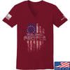 IV8888 Ladies We The People V-Neck T-Shirts, V-Neck SMALL / Cranberry by Ballistic Ink - Made in America USA