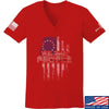 IV8888 Ladies We The People V-Neck T-Shirts, V-Neck SMALL / Red by Ballistic Ink - Made in America USA