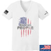 IV8888 Ladies We The People V-Neck T-Shirts, V-Neck SMALL / White by Ballistic Ink - Made in America USA