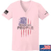 IV8888 Ladies We The People V-Neck T-Shirts, V-Neck SMALL / Light Pink by Ballistic Ink - Made in America USA