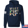 IV8888 Woke AF Hoodie Hoodies Small / Navy by Ballistic Ink - Made in America USA