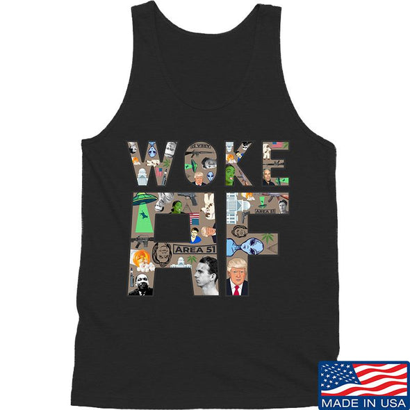 IV8888 Woke AF Tank Tanks SMALL / Black by Ballistic Ink - Made in America USA