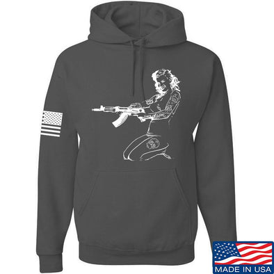 Men of Arms Apparel Marilyn AK Hoodie Hoodies Small / Charcoal by Ballistic Ink - Made in America USA