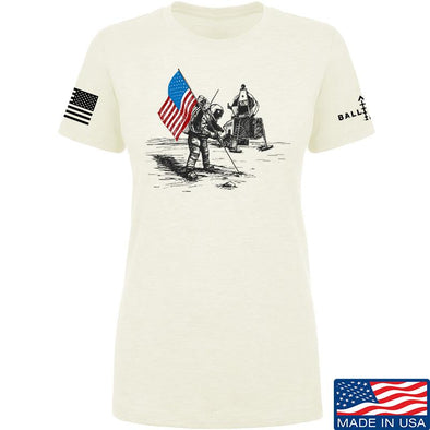 IV8888 Ladies First Man on The Moon T-Shirt T-Shirts SMALL / Cream by Ballistic Ink - Made in America USA