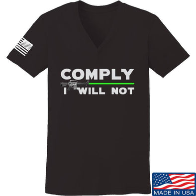 Ladies Comply I Will Not V-Neck