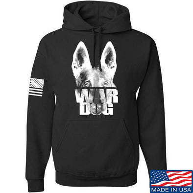IV8888 War Dog Hoodie Hoodies Small / Black by Ballistic Ink - Made in America USA