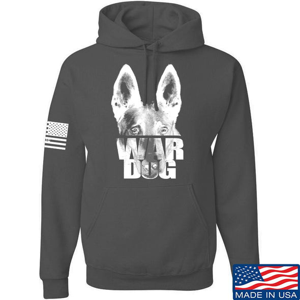 IV8888 War Dog Hoodie Hoodies Small / Charcoal by Ballistic Ink - Made in America USA