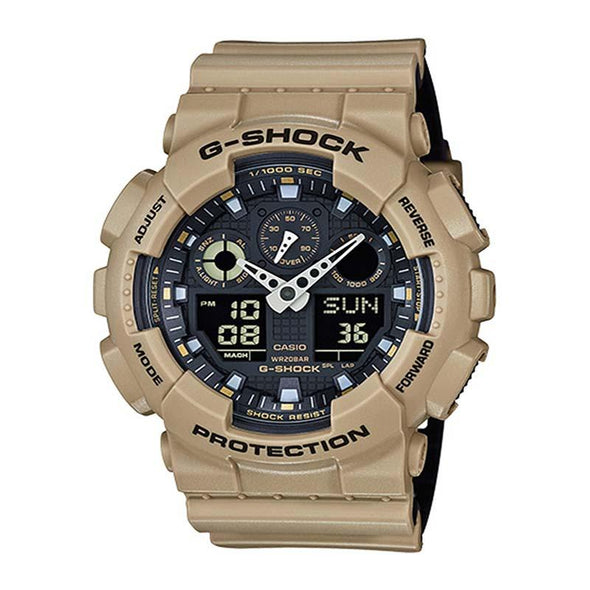 Casio G-Shock XL Ana-Digi Watch — GA100L-8A — Tan