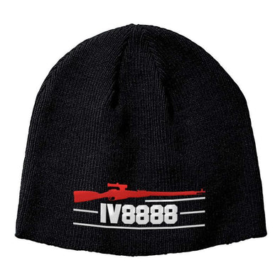 IV8888 IV8888 Logo Beanie Headwear Black by Ballistic Ink - Made in America USA