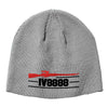 IV8888 IV8888 Logo Beanie Headwear Dark Ash by Ballistic Ink - Made in America USA