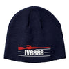 IV8888 IV8888 Logo Beanie Headwear Navy by Ballistic Ink - Made in America USA