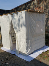 7½ft Simple All White Sukkah with Schach (4'x4')