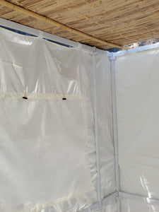 7½ft Simple All White Sukkah with Schach (5'x7')