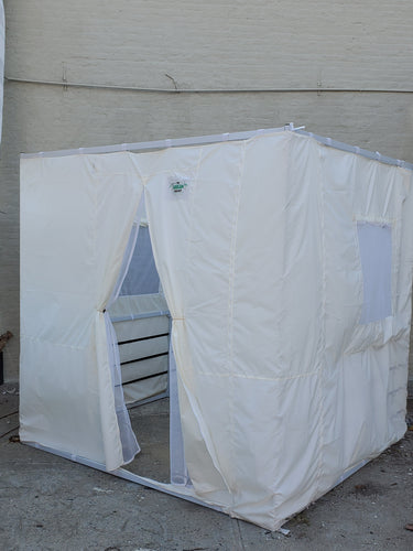 7½ft Simple All White Sukkah with Schach (6'x8')