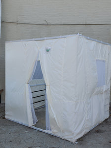 7½ft Simple All White Sukkah with Schach (8'x12')