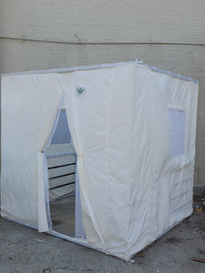7½ft Simple All White Sukkah without Schach (6'x8')