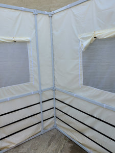 7½ft Simple All White Sukkah without Schach (10'x12')