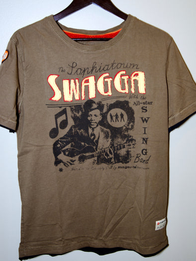 Swagga Men's Applique and Printed T-Shirt