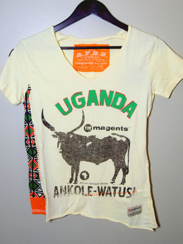 Uganda Women's Applique and Printed T-shirt