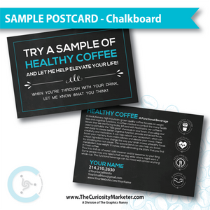 PERSONALIZED Sample Postcard - Chalkboard
