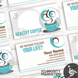 Coffee Swirls Business Card