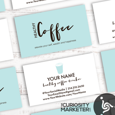 Coffee To-Go Blue Business Card