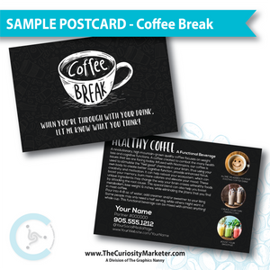 PERSONALIZED Sample Postcard - Coffee Break