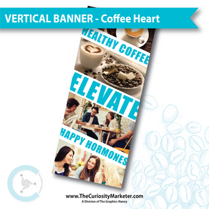 Vertical Banner - Coffee Heart