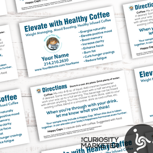 PERSONALIZED Coffee Sample Cards