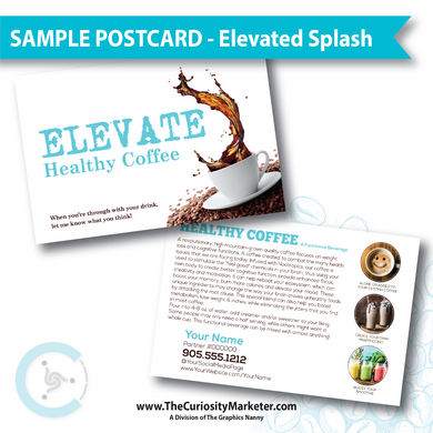 PERSONALIZED Sample Postcard - Elevated Splash