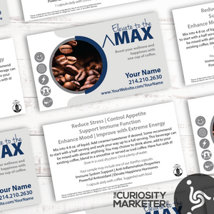 Max Falling Beans Business Card