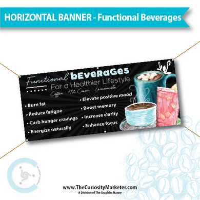 Horizontal Banner - Functional Beverages