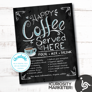 Flyer - Happy Coffee Served Here - Instant Download