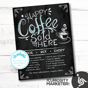 Flyer - Happy Coffee Sold Here - Instant Download