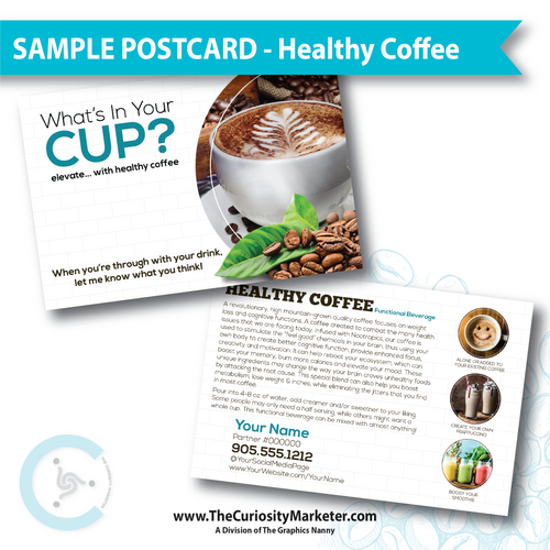 PERSONALIZED Sample Postcard - Happy Coffee