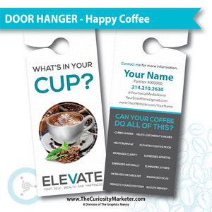 Door Hanger - Healthy Coffee - Customized