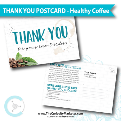 PERSONALIZED Thank You Postcard - Healthy Coffee