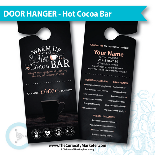 Door Hanger - Hot Cocoa Bar - Customized